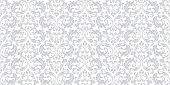 Floral Pattern. Vintage Wallpaper In The Baroque Style. Seamless Background. White And Grey Ornament poster