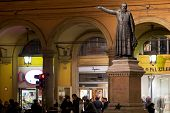 Statue Of Padre Ugo Bassi In Bologna, Italy
