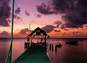 picture of west indies  - The jetty at Pigeon Point at sunset Tobago Trinidad and Tobago Caribbean West Indies - JPG