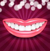 Vector Disco Lips