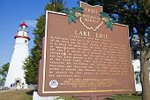 Lake Erie Historical Marker