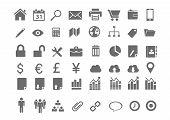 48 Minimal Business Icons