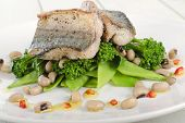 picture of mange-toute  - Grilled Mackerel  - JPG