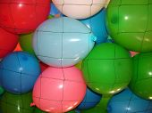 Party Balloons In Net