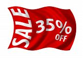 Sale 35% Off Flag