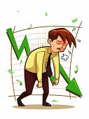 foto of underdog  - Image of businessman distressed for his failed works.