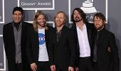 LOS ANGELES - FEB 12:  FOO FIGHTERS arriving to Grammy Awards 2012  on February 12, 2012 in Los Ange