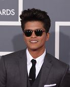 LOS ANGELES - FEB 12:  BRUNO MARS arriving to Grammy Awards 2012  on February 12, 2012 in Los Angeles, CA