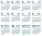 Calendar 2014 - Spanish Language