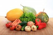 beautiful vegetables isolated on white background
