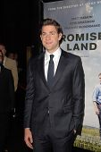 LOS ANGELES - DEC 6:  John Krasinski arrives at the 'Promised Land' Premiere at Directors Guild of A