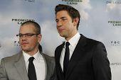 LOS ANGELES - DEC 6:  Matt Damon, John Krasinski arrive at the 'Promised Land' Premiere at Directors Guild of America on December 6, 2012 in Los Angeles, CA