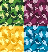 Colorful Camouflage Seamless Patterns