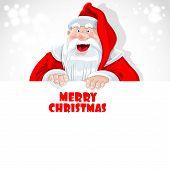 Santa Claus hold big banner