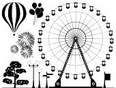 Vector Elements Of Amusement Park