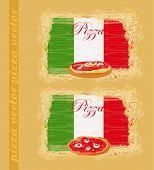Pizza Grunge Poster Set