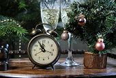 New Year In Antique Retro Style