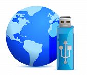 Memoria USB Flash y el mundo