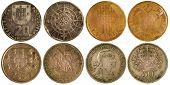 Diferentes moedas raras de Portugal