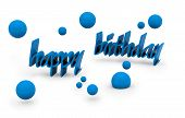 stock photo of happy birthday  - happy birthday text on white background - JPG
