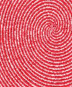Downward Spiral In Red