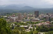 image of asheville  - Skyline of Asheville North Carolina with Pisgah Mountains - JPG