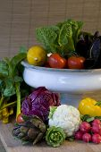 Freshly Harvested Organic Fruits And Vegetables