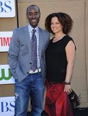 LOS ANGELES - AUG 04:  Don Cheadle & Bridgid Coulter  arrives to CBS Showtime CW All Star Winter TCA
