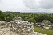 On Top Of Mayan Ruins At Caracol