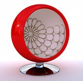 Red Sphere Chair