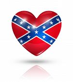 stock photo of flag confederate  - Love confederate symbol - JPG