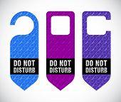 Hotel Do Not Disturb Door Hanger With Hipster Design
