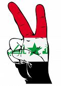 Peace Sign of the Iraqi flag
