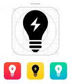 Electric light icon. Vector illustration.