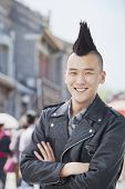 Young man with punk Mohawk portrait