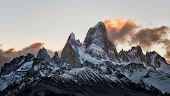 Peak Of Mount Fitz Roy In Argentina