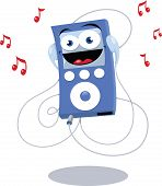 Funny Blue Mp3 Player