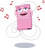 Funny Pink Mp3 Player