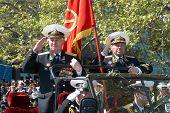 Parade Commander. Russian Veteran's Parade May 9, 2009 In Sevastopol, Ukraine.