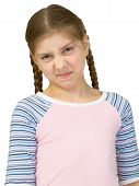 Wrinkled Girl In A T-shirt