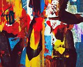 foto of acrylic painting  - abstract painting - JPG