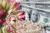 Money Pearls And Flowers
