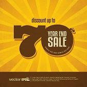 stock photo of year end sale  - Year end sale poster - JPG