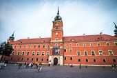 WARSAW, POLAND - AUGUST 20: Castle Square in Warsaw on August 20, 2013 in Warsaw, Poland. Warsaw's O