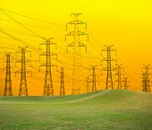 picture of power transmission lines  - Power Lines - JPG
