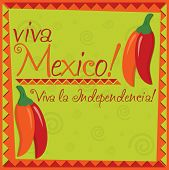 picture of jalapeno  - Mexican Independence Day card in vector format - JPG