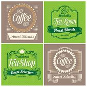 Vintage labels, ribbons and banner vector designs