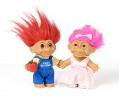 pic of troll  - A happy two Souvenir Trolls on white background - JPG