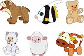 Dog, Fish, Bear, Cat, Sheep And Cow