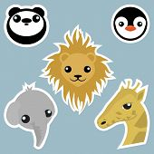 Adorable Wild Animals Stickers